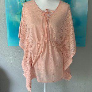 Loveriche Peach Lace Tunic